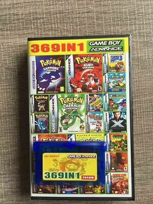 369 in 1 GBA Games for Nintendo GBA SP NDS Retro GameBoy Multicart Cartridge US