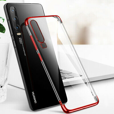For Huawei P30 P20 Lite Pro/P Smart Z Plating Clear Silicone Hybrid Case Cover