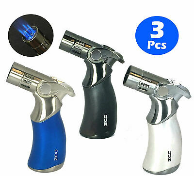 "3 PCS Combo 4.5"" ZICO QUADRUPLE REFILLABLE TORCH LIGHTER Easy Soft Ignition"