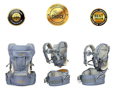 Baby Carrier with Hip Seat, 8 Positions Convertible Carrier, 360 Ergonomic Baby