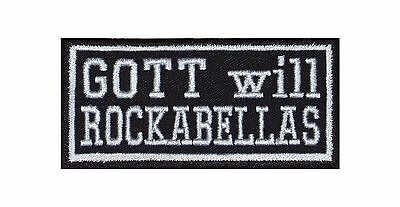Gott will Rockabellas Patch Aufnäher Rockabilly Fiftees Sixtees Rock n Roll USA