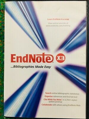 Endnote X3 Workstation for (Mac/PC Windows, 2009) Research Publishing *Mint*