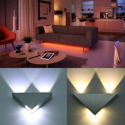 Bright Lighting Fixture Indoor Bedroom LED Triangle Light Wall Sconce Wall Lamp