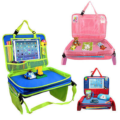 Kids Car Snack and Play Tray Lap Seat Pits Toys Table Organizer Bag Travel Trip