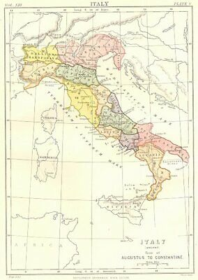 ITALY ANCIENT.time of Augustus to Constantine. Britannica 9th edition 1898 map