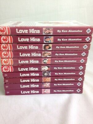 Love Hina Manga Books Volumes 1.2.3.5.6.7.11.12.13.14 English Incomplete Set