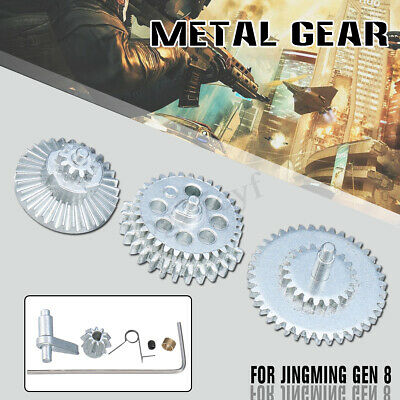 Upgrade Metal Gear Set for JinMing Gen8 M4a1 Gel Ball Blaster Outdoor Toy Silver