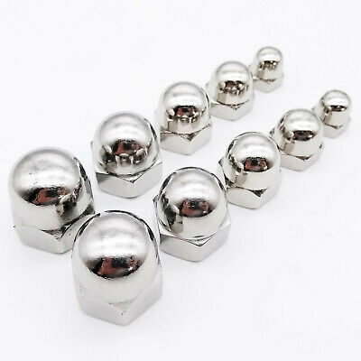 10pc New M3-M10 Hex Acorn Nut Cap 304 Stainless Steel Decorative Cover Dome Nuts