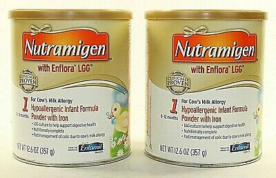 Lot of 2 Cans Nutramigen Powdered Infant Baby Formula 12.6oz Exp Oct 2019 Sealed