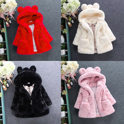 Warm Thick Jacket Tops Coat Snowsuit Toddler Baby Kids Girls Outerwear Winter