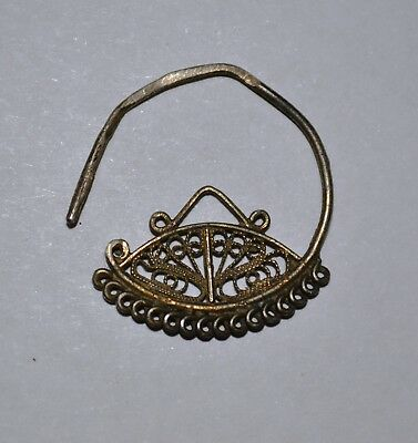 Ancient Byzantine Silver Earring Circa 400-600 Ad