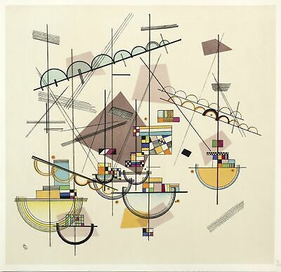 WASSILY KANDINSKY - LYRIQUE (COMPOSITION IV) - Farblithografie 1923/1953