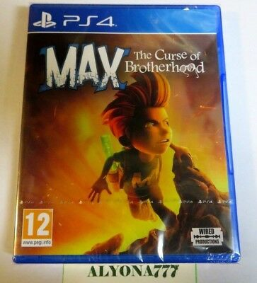 Max The Curse of Brotherhood PS4 --- REGION FREE--- *BRAND NEW & FACTORY SEALED*