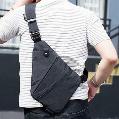 1Pc Anti-theft Men's Casual Sling Bag Camping Travel Crossbody Shoulder Chest CB