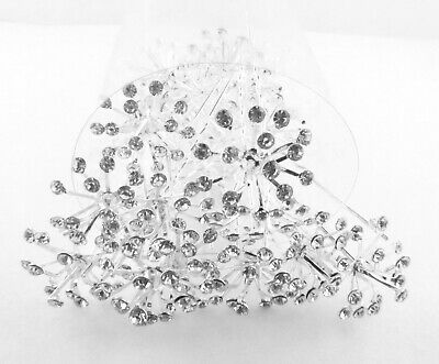 Rhinestone  Fountain Style  Hair Pins Decor  Weddings,Parties,Proms& Occasions