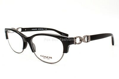 8a19b2f64e05 COACH HC 5063 5269 Eyeglasses Optical Frames Glasses Black & Dark Silver ~  51mm