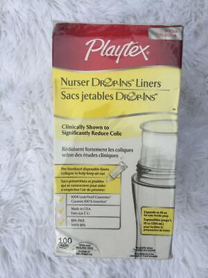 Playtex Nurser Drop-Ins Disposable Liners 8-10-Ounce 100 Liners Baby Bottle