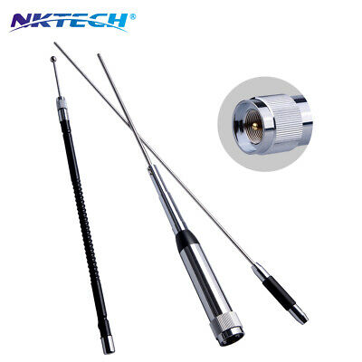 NKTECH NK-9900 Quad-Band Stainless Antenna 10/6/2/0.7m 29.6/50.5/144/435MHz 150W