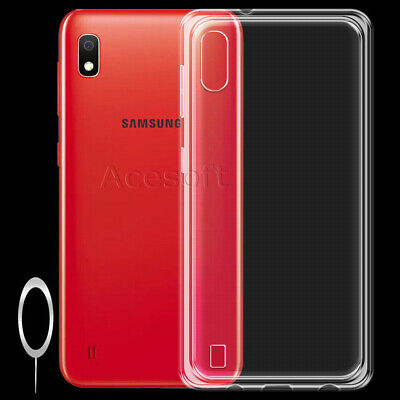 For Samsung Galaxy A10 (2019) SM-A105M Clear Soft Silicone Shockproof Case Cover