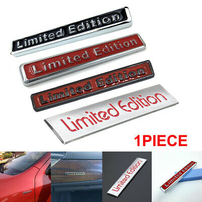 1x 3D Limited Edition Logo Metal Emblem Badge Sticker Decal Car Accessories Cool