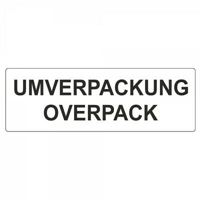 "Shipping Labels "" Outer Packaging Overpack "" on Roll - 50 x 150 mm - 500 Piece"