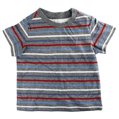 First Impressions Baby Boys Short-Sleeve Multicolor Stripe T-Shirt, 6-9 Months