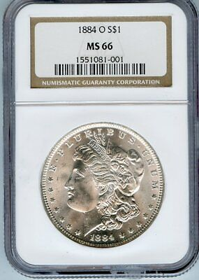 1884 O $1 Morgan Silver Dollar $ NGC MS 66
