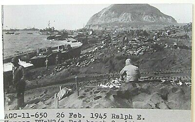 RPPC USS LST 724 Invasion of WWII POSTCARD, card #3