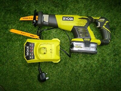Ryobi RRS1801 ONE+ 18V Cordless Reciprocating Saw With 5Ah Battery And Charger