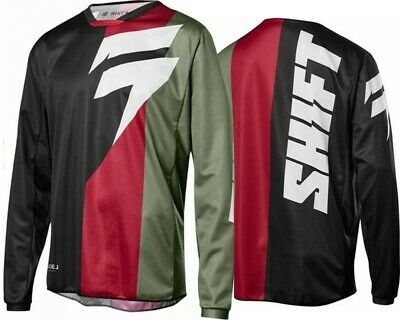Shift WHIT3 Label Tarmac Motocross MX Race Jersey BLACK GREEN Adults
