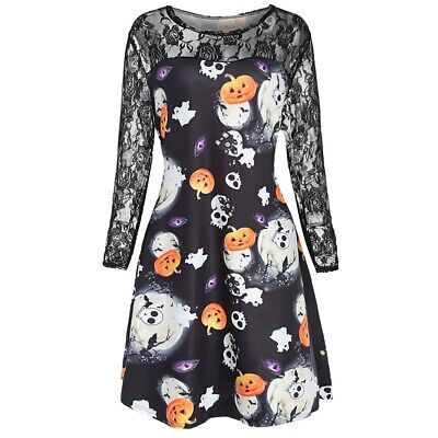ac1f9f12f HALLOWEEN PLUS SIZE Ghost Pattern Dress - EUR 14,62 | PicClick IT