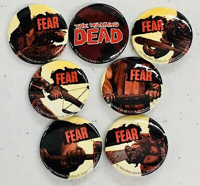 Walking Dead Something To Fear Set Of 7 Pins New
