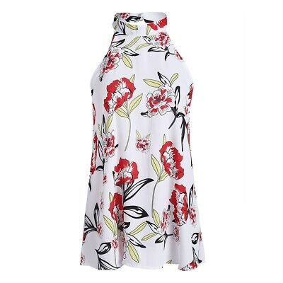Round Neck Floral Print Sleeveless Top