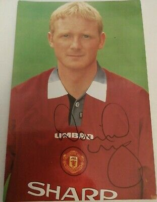 David May Hand Signed Autograph 6X4 Player Photo Manchester United