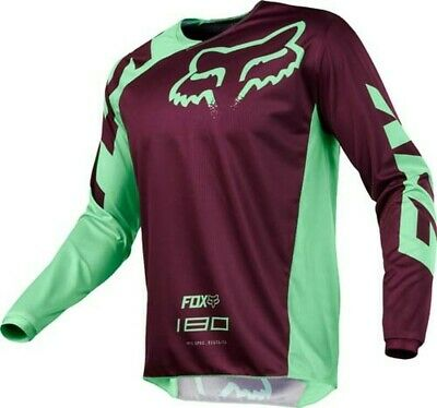 Fox Racing 180 Race Green Purple Offroad MX Motocross Race Jersey Adults Large