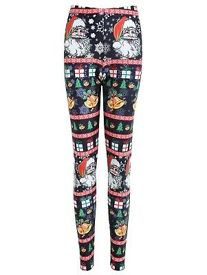 Plus Size Christmas Santa Claus Bell Print Leggings