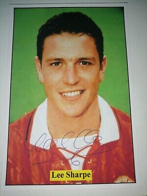 Lee Sharpe Hand Signed Autograph 6X4 Photo Manchester United