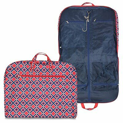 New Hanging Garment Bag Luggage Travel Cheer Red Tote Suit Print Canvas Dance