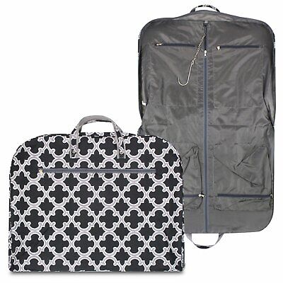 New Hanging Garment Bag Luggage Travel Cheer Black Tote Suit Gray Canvas Dance