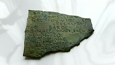 SCARCE ANCIENT ROMAN LEGIONARY BRONZE DIPLOMA FRAGMENT 1st BC - 3rd AD