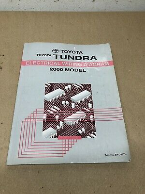 2000 toyota tundra trk electrical wiring diagram ewd service repair shop  manual