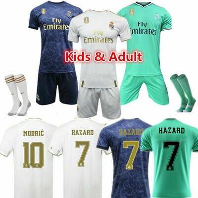 19/20 Soccer Football Kits Home Away Jersey Shirt Adult Kids Boys Suit +Socks