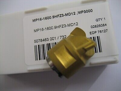 MP16-1600.9HFZ3-MD12 MP3000 SECO 16mm CARBIDE MINIMASTER END MILL INSERT #52