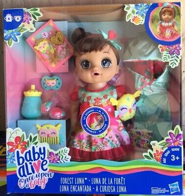 Baby Alive Once Upon a Baby: Forest Tales Forest Luna (Brown Straight Hair)