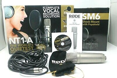 Rode NT1-A Condenser Wired Professional Microphone Bundle with Accessories
