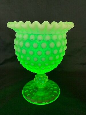Imperial Glass Uranium Glass Compote/Goblet