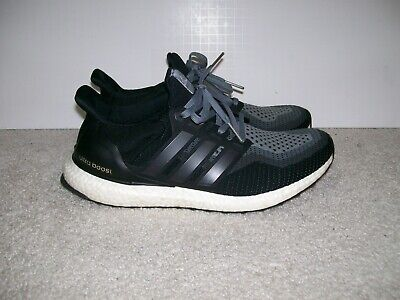 huge discount d6ac9 c2bc5 SZ 10 Mens Adidas Ultra Boost 2.0 Running Shoes Black Grey AQ4004 NMD 350  700