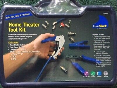 New~#70053~Paladin DataShark Home Theater Tool Kit~Build RCA, BNC & F Cables