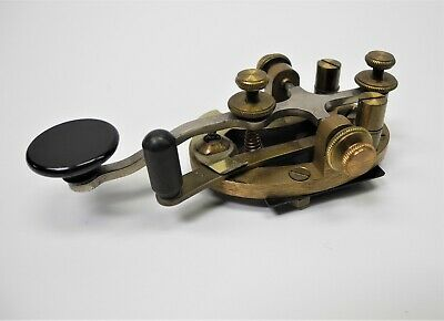 VINTAGE WESTERN ELECTRIC Brass Morse Code Telegraph Key