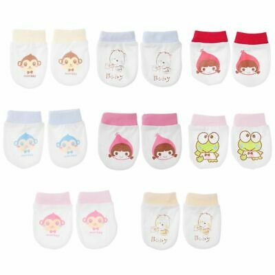 Gloves Newborn Cotton  Breathable Mittens For Baby Protection Face Anti Grasping